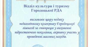31144397 300x160 - Подяка відділу культури і туризму Городоцької РДА