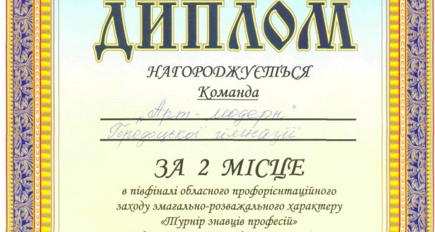 """70175789 620x330 - Фінальні змагання """"Турнір знавців професій"""""""