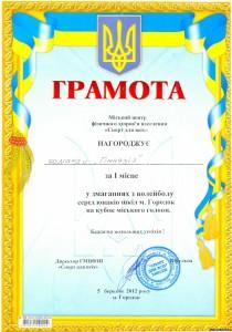 85863112 210x300 - Змагання з волейболу серед юнаків шкіл міста