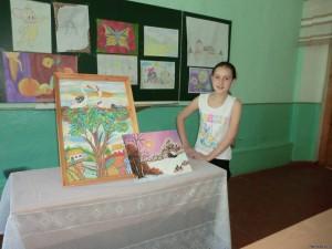 68217905 300x225 - Завершивши вивчення предмета образотворче мистецтво, учні представили творчі роботи
