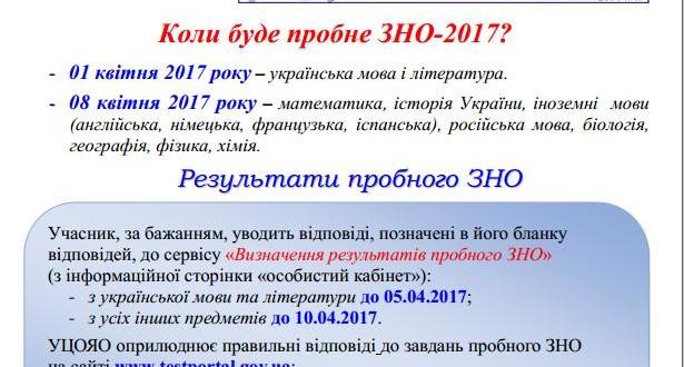 probneZNO 615x330 - Пробне ЗНО 2017