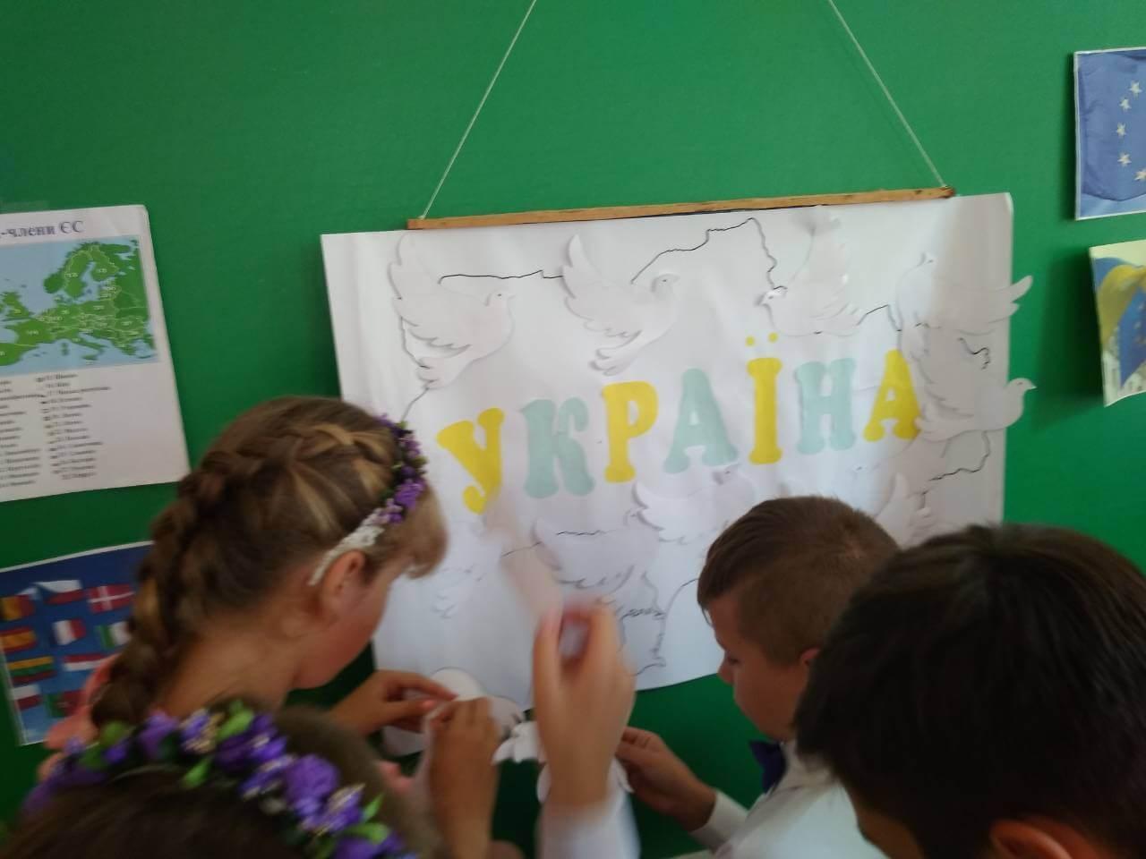 1 - Хочемо, щоб усі жили у мирі - у Європі й в Україні