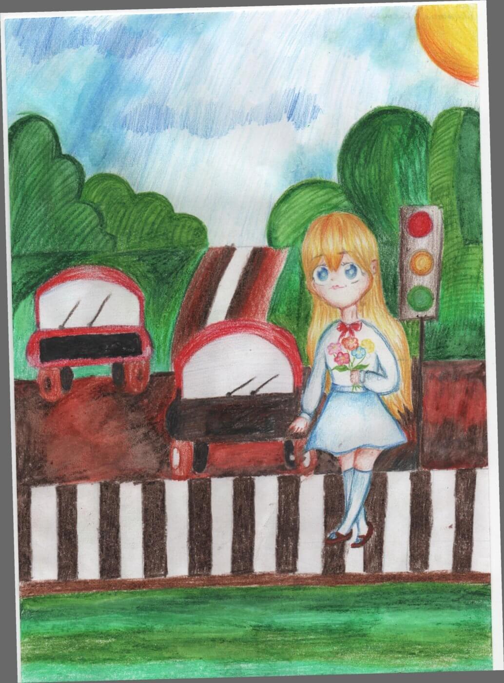 kisilovska kateryna2 1034x1400 - Всеукраїнський конкурс шкільних малюнків «Мої права»